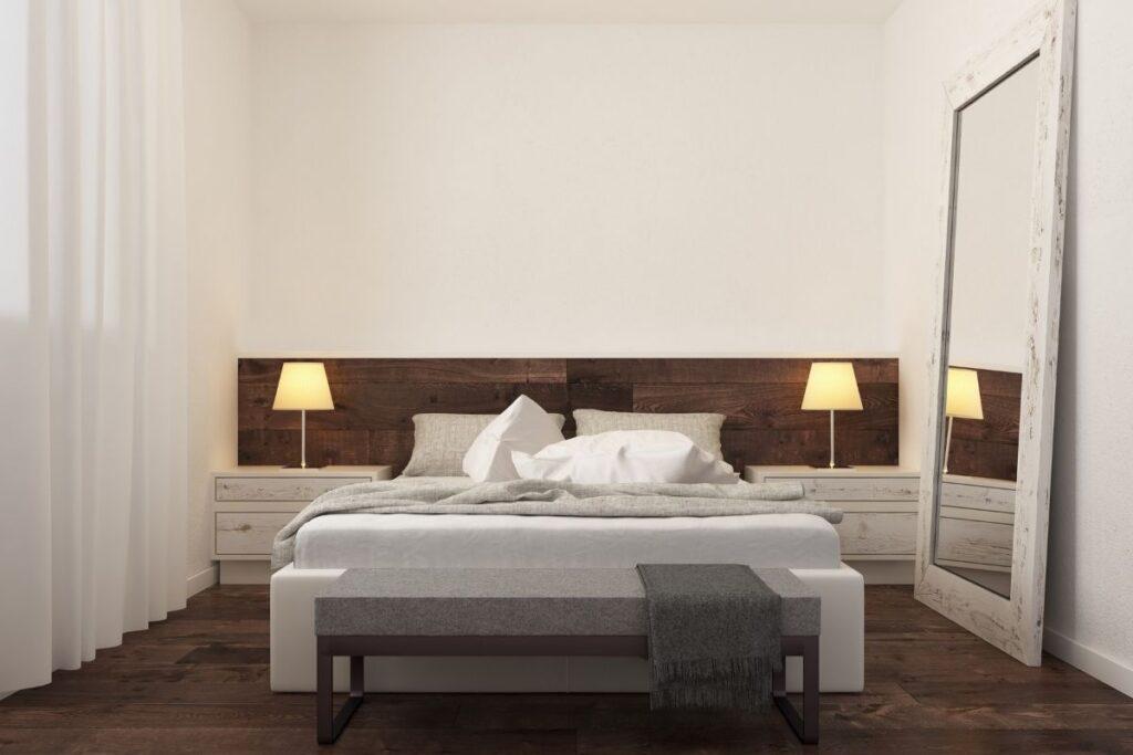 minimalist yatak odası